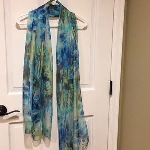 Accessories - Sheer Blue and Green Scarf
